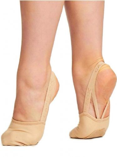 Capezio Canvas Hanami Pirouette Turning Shoe Half Shoe Contemporary Lyrical Nude